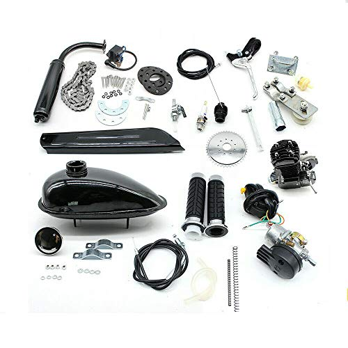 80cc Fahrradmotor Kits, 2-Takt-Fahrradbenzinmotor Pedal Cycle Benzinmotor Kit, Höchstgeschwindigkeit 38km / h für motorisierte Fahrräder