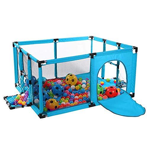 LXDDP Parque Infantil Parque Infantil Azul con colchón, Divisor Seguridad para niños...