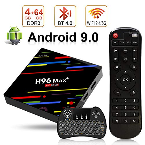classement un comparer H96 Max + TV Box Android 9.0 [4GB RAM+64GB ROM] TV-Box 4K Ultra HD RK3328 Cortex-A536 4 bits…