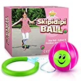 IPIDIPI TOYS Skip It Ankle Toy Pink Retro Skipit Toy Hopper Ball - Improve Coordination, Get Exercise The Fun Way - Playground Ball Best Retro Birthday Gift for Kids 5, 6, 7, 8, 9, 10, 11