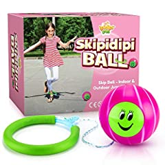 🏐 BACK TO BASICS: Encourage kids to get off the couch with this retro toy! The Skip It Original toy was a hit in the 80s. Let's bring back the good ole days when kids played outside in the sun! 🏐 ILLUSTRIOUS BEGINNINGS: The swing ball toy was invente...