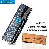 KingSener AS07B51 - Batería para Ordenador portátil Acer Aspire 5520, 5520G, 5920G, 5715Z, AS07B31, 5710, 5720, 5739, 5920, 5930, AS07B61, 10,8 V, 4400 mAh