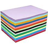 100 Carta Colorata A4 Cartoncini Colorati A4,DIY Cartoncini di Carta 210x297mm, fogli colorati double face,Carta Colorata 10 colori Fogli Origami per Fare Origami DIY