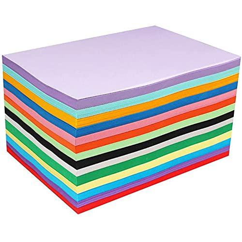 100 A4 papier couleur feuilles cartonnées couleur A4 cartes colorées Papier Cartonné Coloré 210x297mm feuilles de papier origami couleurs en 10 coloris différents