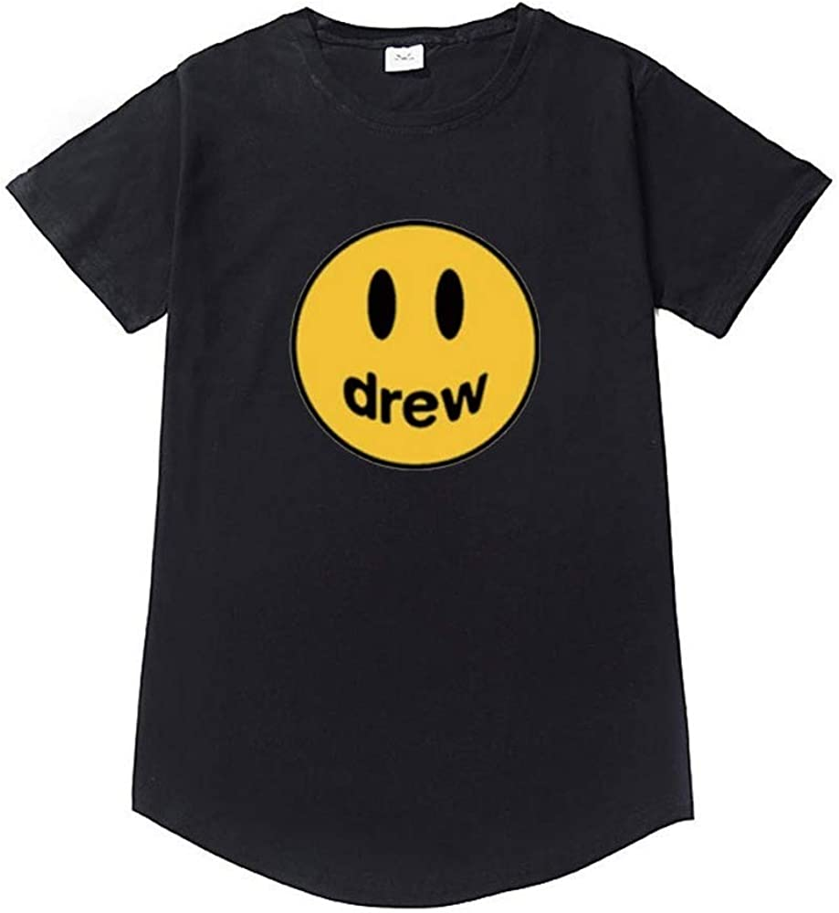 Drew House - Camiseta de manga corta unisex para hombre y mujer, estilo hip hop