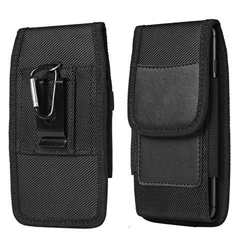 TKHope Phone Holster for Moto G Power G Stylus E 2020 G7 Power Play Plus Z2 Z3 Z4 Play/LG Stylo 5 4 3 2 V50 LG Phoenix 4 Nylon Oxford Belt Clip Pouch Carrying Wallet Case Card Holder Slots