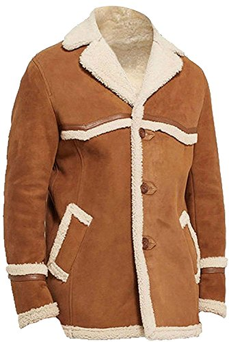 Men Women Fashions Leather The Brown Shearling Jacket