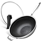 Best Wok Pans - MICHELANGELO Stainless Steel Wok with Lid, Pro. Triply Review