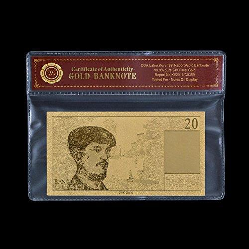 Desconocido Billetes de Dinero de Papel bañado en Oro de 50 francos de la Marca Imported France Fold Banknote