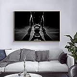 Pintura de moda 50x70 cm sin marco moderno masculino kettlebell levantamiento de pesas ejercicio físico impresiones arte de la pared pintura cartel deportes gimnasio decoración del hogar