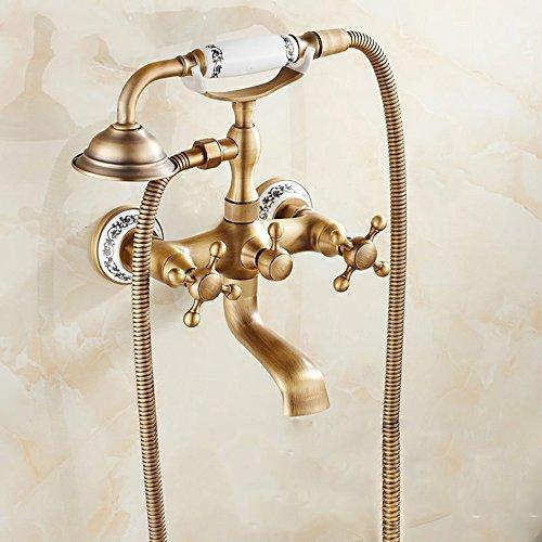 vasca di rame rubinetto doccia rubinetto bagno doccia rubinetto dell'acqua calda e fredda la valvola,e.