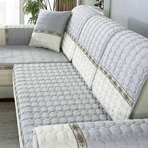 Pokrowiec na meble, narzuty na sofę, narożnik, kształt litery L, antypoślizgowy, pikowany, gruby, 1/2/3/4-osobowy, narzuta na sofę, pełne pokrycie, pokrowiec na sofę, 90 x 120 cm