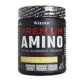 Weider Premium Amino Power 800 g Tropical. Con aminoácidos esenciales y electrolitos. Perfecto Intraentreno.