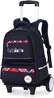 Children's Trolley Backpack Lightening Pulley Bag Widened Thicken Breathable Shoulder Strap Waterproof School Bag