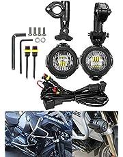「SUPAREE」 BMW r1200gs 用 補助灯 led ヘッドライト 40W バイク汎用 LED フォグランプ BMW R1200GS ADV用 フォグ サイドライト 左右一セット 専用スイッチ付きリレーハーネス付属 IP67防水 一年保証付き