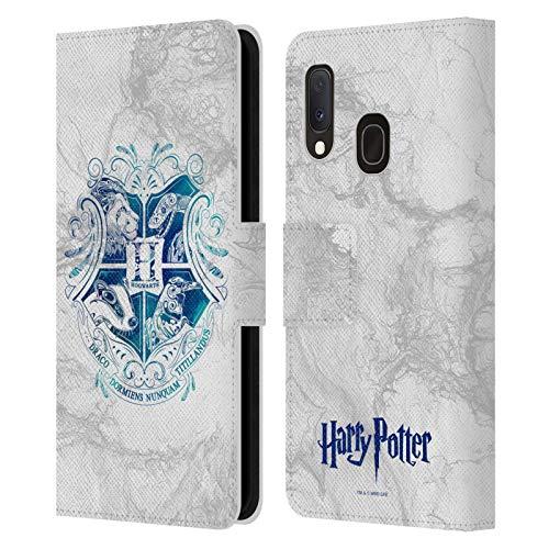 Head Case Designs sous Licence Officielle Harry Potter Hogwarts Aguamenti Deathly Hallows IX Coque en Cuir à Portefeuille Compatible avec Samsung ...