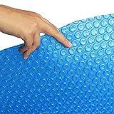 JLXJ Cobertor Solar Piscinas Cubierta Solar Flotante Térmica para Piscina, Burbuja Rectangular Rectangular de 400µm de Grosor Lona Impermeable Grande con Ojales (Size : 1m x 2m(3ft×6ft))