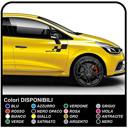 Pegatinas gráficas Set pegatinas tiras coche calcomanías pegatinas lado adhesivo tiras Racing deportes pegatinas calcomanías (NEGRO MATE)