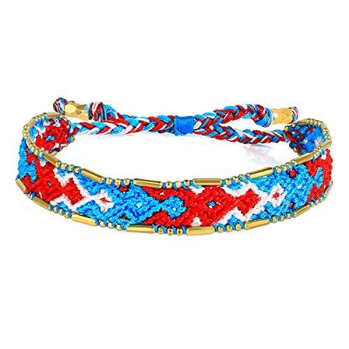KELITCH Nouveau Boho été Plage Arc-en-Ciel Brin Bracelets tissé tressé amitié Bracelet 2020 Enfants Fille Cadeau