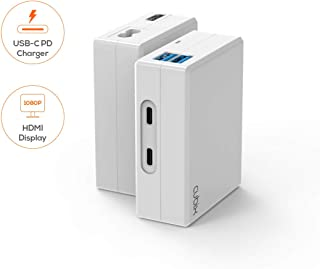 USB-C Charger, mbeat Cubix USB-C Charger (USB Type C PD) supports 5V, 9V, 14.5V/3A, 20V/2.25A, supports HDMI 1080P Video D...