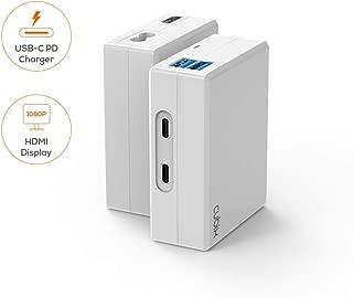 mbeat Cubix Portable USB-C Desk Hub Docking Station Charger Data Transfer Multi-Port Apple Samsung