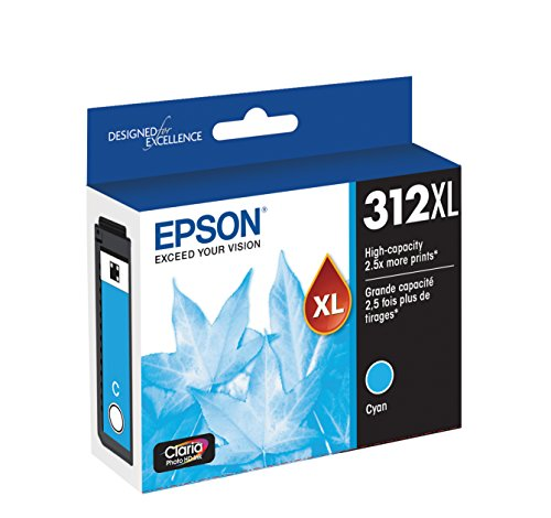 EPSON T312 Claria Photo HD Ink High Capacity Cyan Cartridge (T312XL220-S) for select Epson Expression Photo Printers Photo #2