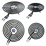 4 Pack - 2 Pack 6 Inch WB30M1 and 2 Pack 8 Inch WB30M2 Range Stove Top Surface Element Burner Unit Kit Replacement Part for Kenmore GE Hotpoint Microwave Ovens & Ranges