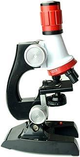 HETUI Kit de Microscope de biologie Laboratoire LED école à Domicile Science Jouet éducatif Cadeau (Multicolore)