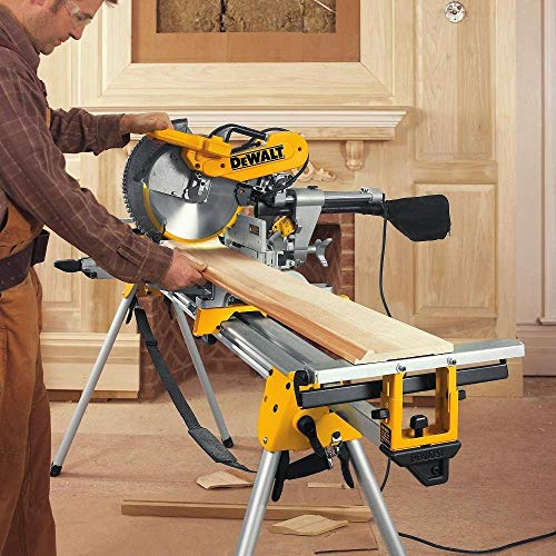 "DEWALT DWS779 12"" Sliding Compound Miter Saw with DEWALT DW3128 Series 20 12-Inch 80 Tooth ATB Thin Kerf Crosscutting Miter Saw Blade with 1-Inch Arbor"