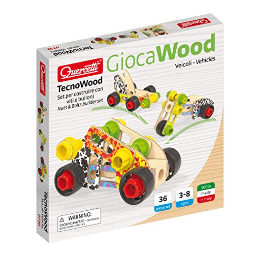 Quercetti 0730 - Tecno Wood Vehicles Basic Lego