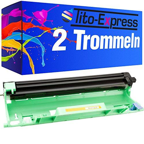 Tito-Express Platinum Serie 2 Trommels XXL compatibel met Brother DR-1050 DR1050 DR 1050 DCP-1512A DCP-1601 DCP-1612W HL-1110E HL-1110 HL-1112 HL-1201 HL-1211W HL-1212W MFC-1815 MFC-1910W