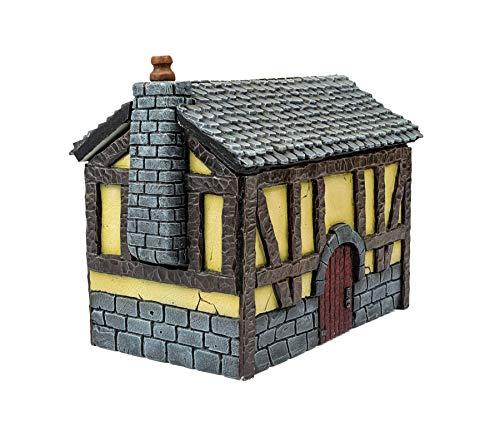 War World Gaming Medieval Siege (Assedio Medievale) Cottage della Locanda - 28mm Fantasy Wargame Terreno Modello Diorama