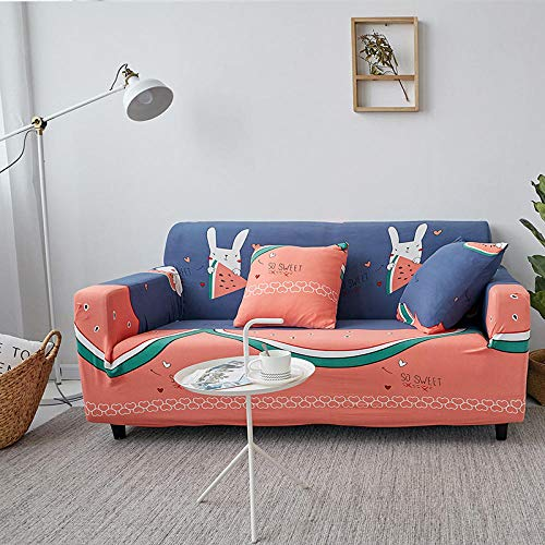 Allenger Funda Sofa Elastica Protector Adaptable,Funda de sofá con Estampado elástico, Funda de sofá con Todo Incluido, Protector de sofá-A8_235-300cm