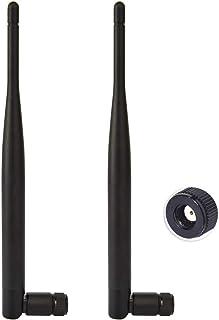 2.4GHz・5GHZ 6dbi ブースターアンテナ WIFIアンテナ 無指向性 RP-SMAプラグ Wi-Fiルーター・ネットワーク機器用 WIFI Bluetooth WiMAX対応 2本入