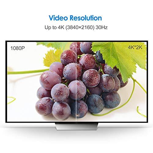 Rankie Verbindungskabel Displayport (DP) auf HDMI, 4K Auflösung Kabel, 1,8 m, Schwarz - 6