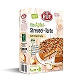 RUF Bio Apfel Streusel Tarte mit Tonkabohne, Backmischung, vegane Rezeptur, weniger süß, 475 g