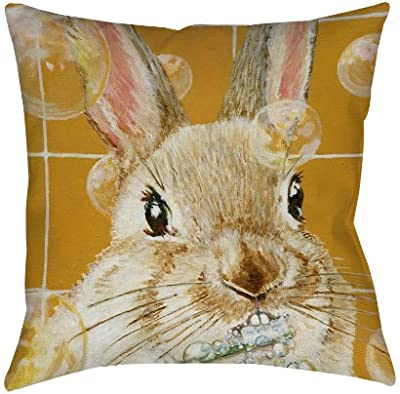 C F Home Floppy Ear Easter Bunny Rabbit Indoor Outdoor Pillow Decorative Throw Pillow Couch Chair Living Room Bedroom Green Home Kitchen