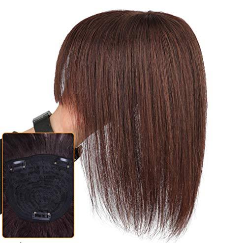 Tête de couronne de remplacement pour cheveux de femmes - 11,9 x 11,9 cm - Marron foncé