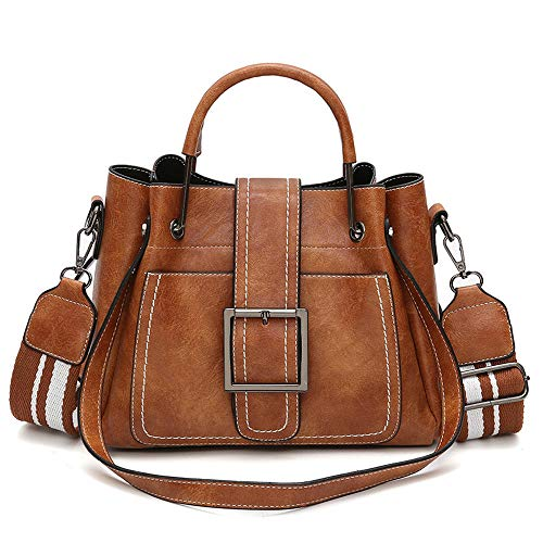 Retro Women's Leather Shoulder Bags With Corssbody Bag Handbag - Shipping From USA (Brown)