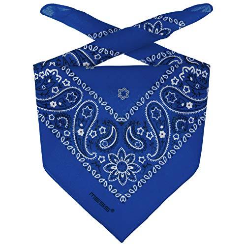Lipodo Bandana Tuch Damen/Herren/Kinder - Kopftuch in Royalblau aus 100% Baumwolle - Multifunktionstuch in Einheitsgröße (55 x 55 cm) - vielfältige Tragemöglichkeiten