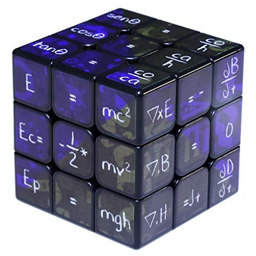 LBFXQ Profesional Velocidad Fórmula Matemática Cubo Rubik 3X3x3 Patrón De La Impresión No Se Desvanece Fácilmente Brain Exercise Flexibilidad para Niños Juguetes De Educación De Adultos,Negro