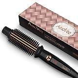 AMOVEE Curling Iron Brush, Ceramic Tourmaline Hair Curling Iron Ionic Hair Curling Hot Brush 1 Inch Barrel Heated Styler Brush