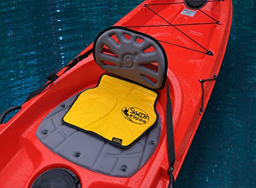 Skwoosh Fishing Chair Seat Pad for All Style Kayaks Including Hobie Perception Diablo | Larry Chair Cushion Made in USA