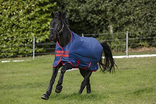 Horseware Amigo Mio Turnout lite Dark Blue red Weidedecke Regendecke (140)