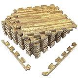 UMI. Essentials, Pannelli di Spugna per Pavimenti, incastrabili, 30cm x 30cm, Set da 9 Pez...