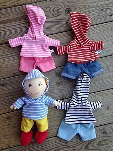 Puppenkleidung handmade passend für kleine Puppen Gr. 20 cm z.b. friends Mirli Mirle Miro Hoodie + Hose Kleidung Stoff-Puppen
