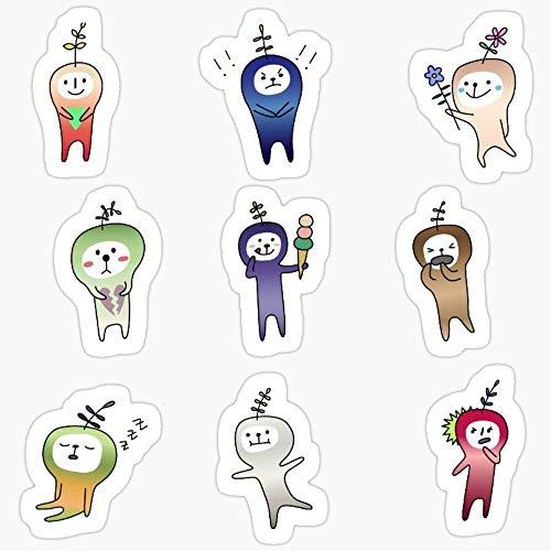 Vinyl Sticker for Cars, Trucks, Water Bottle, Fridge, Laptops Snapchat Leetle Seedlings Sticker Pack Stickers (3 Pcs/Pack)