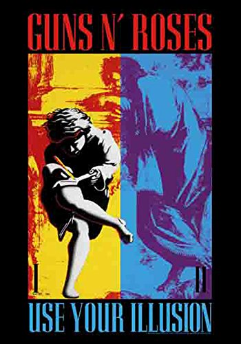Guns N 'Roses – Use Your Illusion – poster drapeau – 100% Polyester – Taille 75 x 110 cm