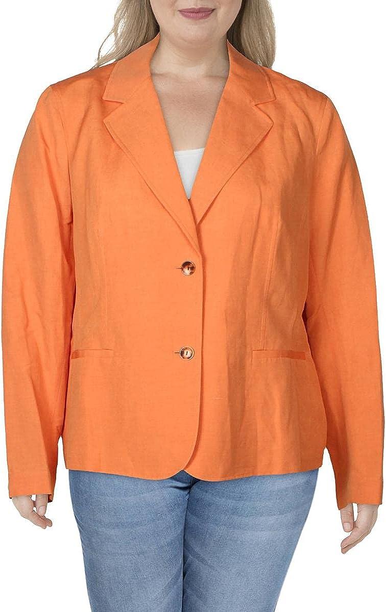 Lafayette 148 New York Womens Fitz Silk Blend Suit Separate Two-Button Blazer