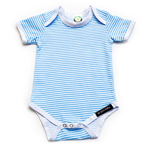 Ah Goo Baby Lollipop Onesie One Piece Bodysuit, 100% Organic Cotton, Blue Raspberry